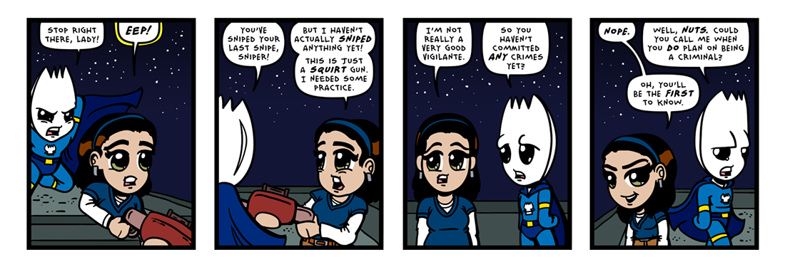 Sniping-Impaired!  Comic Strip