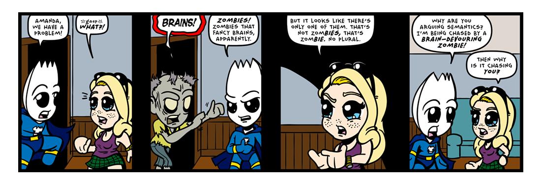 Brains!  Comic Strip
