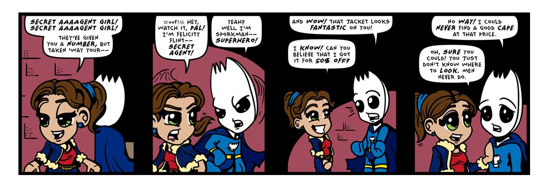 Secret Agent Girl!  Comic Strip