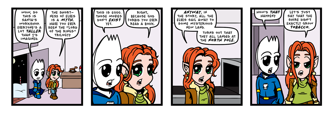 The Elven Myth!  Comic Strip