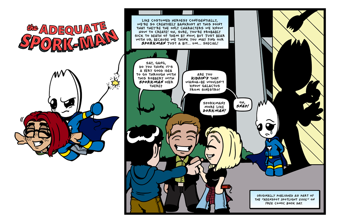 The Amazing Sporkman! (01 of 06)  Comic Strip