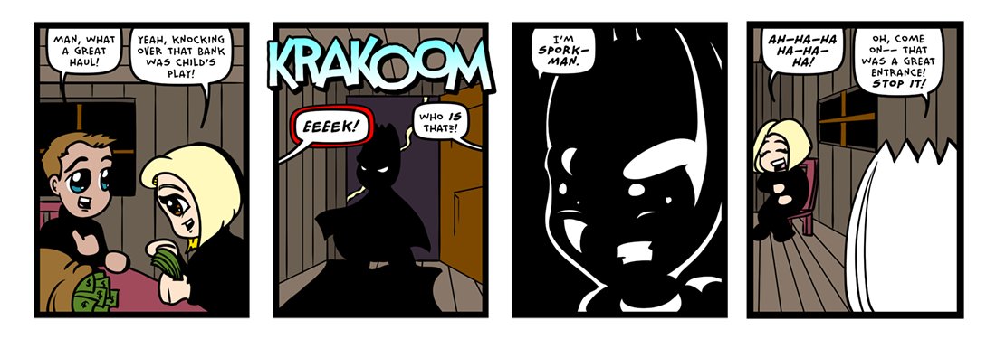 Dramatically Inked Lighting Effects!  Comic Strip