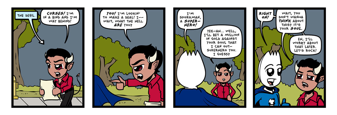 The Devil Went To Seattle!  Comic Strip