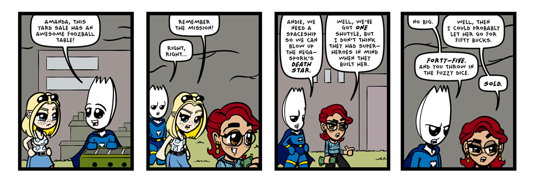 The Inevitable Death of Sporkman! (02 of 07)  Comic Strip