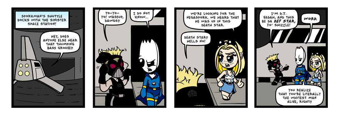 The Inevitable Death of Sporkman! (03 of 07)  Comic Strip