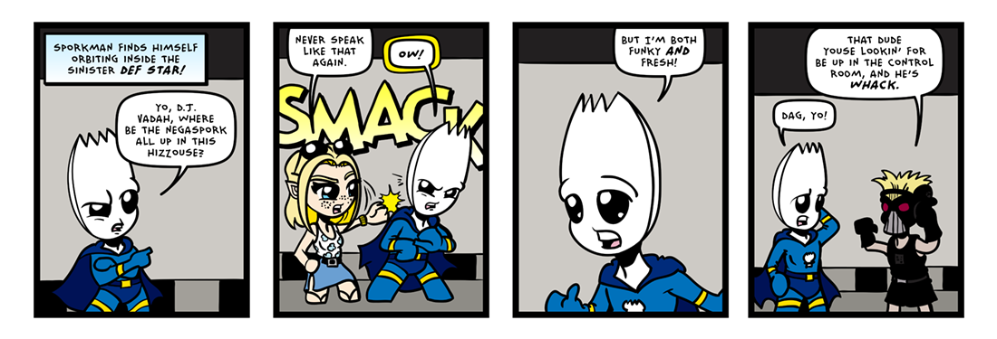 The Inevitable Death of Sporkman! (04 of 07)  Comic Strip