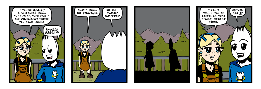 Hail To The Chief!  Comic Strip