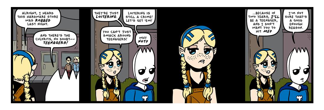 Teenage Wasteland!  Comic Strip