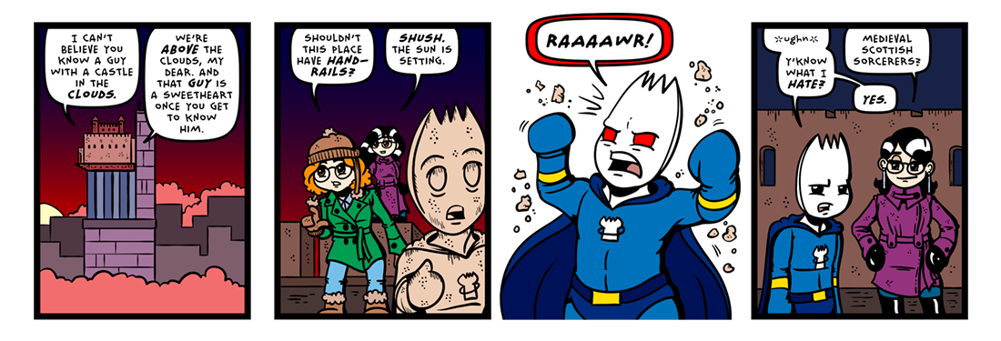 Sorcery In The Sky!  Comic Strip