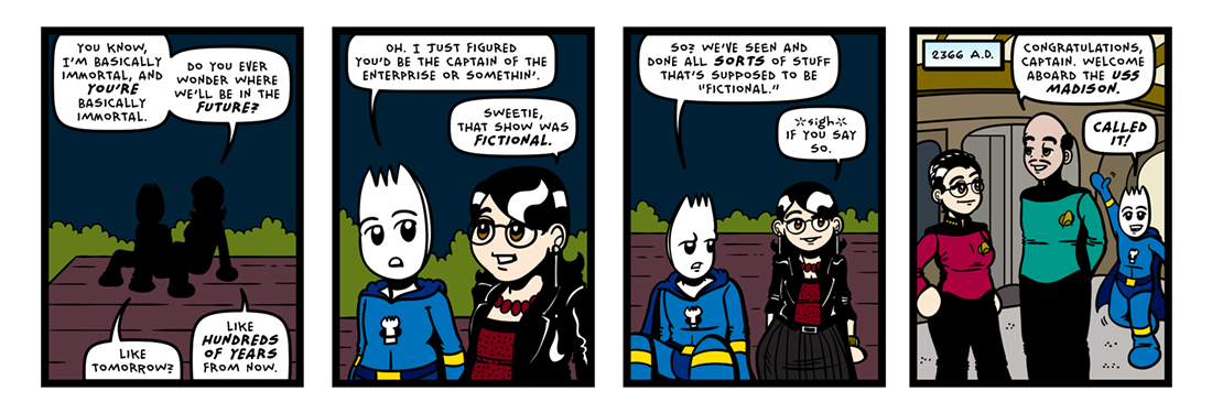 A Trek to the Stars!  Comic Strip