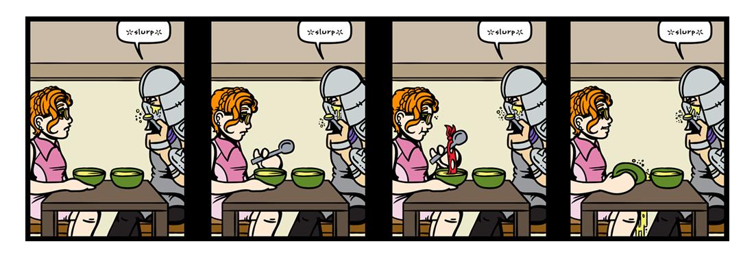 Tonight We Dine...!  Comic Strip